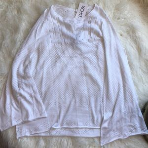 [Wildfox] White Bell Sleeve Sweater